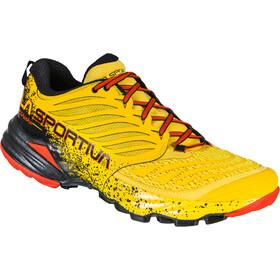 La Sportiva Akasha Running Shoes Men yellow/red